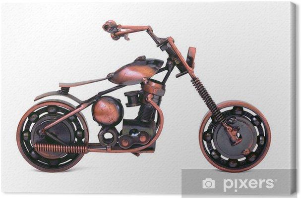 Tableau sur toile Maquette en bronze de moto chopper. Vue de côté. Isolé - Jeux