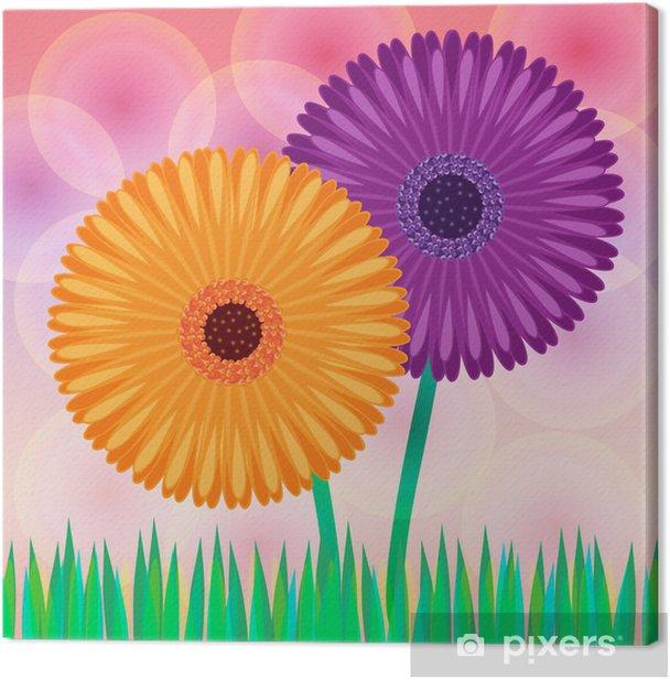 Tableau sur toile Marguerite fleurs vecteur - Art et création