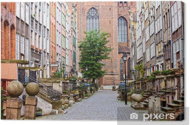 Tableau sur toile Mariacka Street à Gdansk - Thèmes