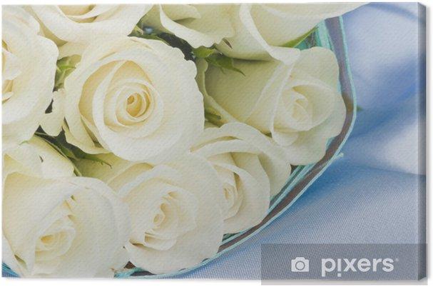 Tableau Sur Toile Mariage Roses Blanches Bouquet De Mariee Pixers