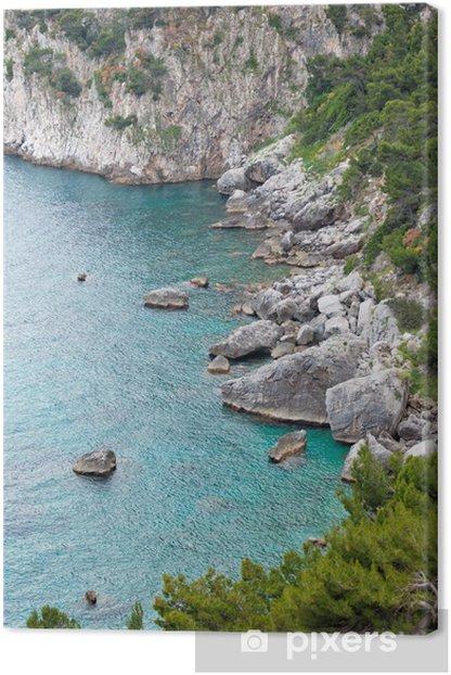 Tableau sur toile Marina Piccola sur l'île de Capri, en Italie - Thèmes