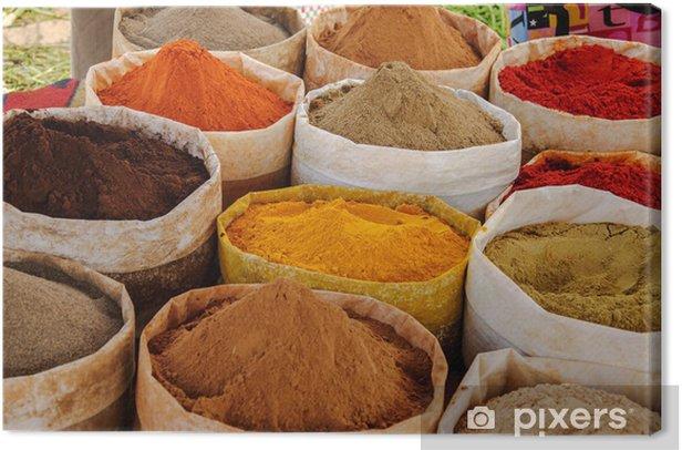 Tableau sur toile Maroc, d'épices au marché - Epices, herbes et condiments