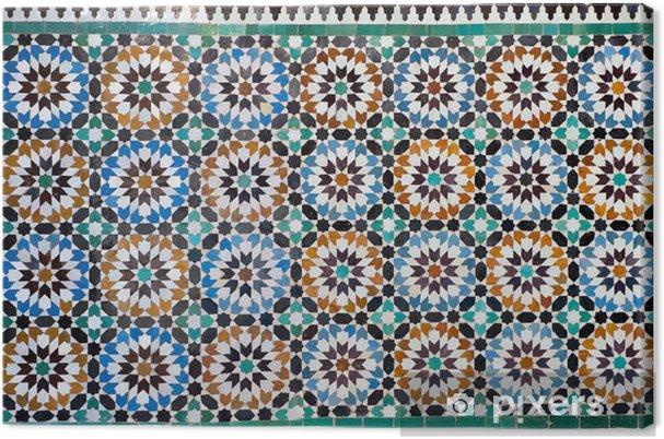 Tableau sur toile Marocaine vintage background de carreaux - Maroc