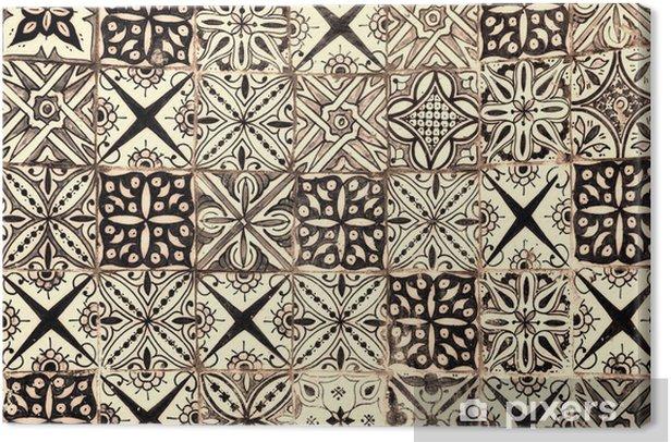 Tableau sur toile Marocaine vintage background de carreaux - Styles
