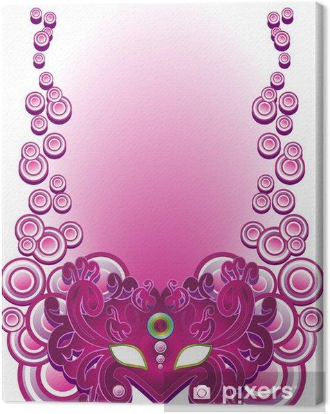 Tableau sur toile Masque-Pourpre-Violet Masque De Carnaval Vecteur - Divertissements