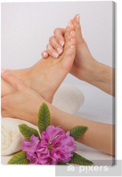 Tableau sur toile Massage des pieds - Beauté et soins du corps