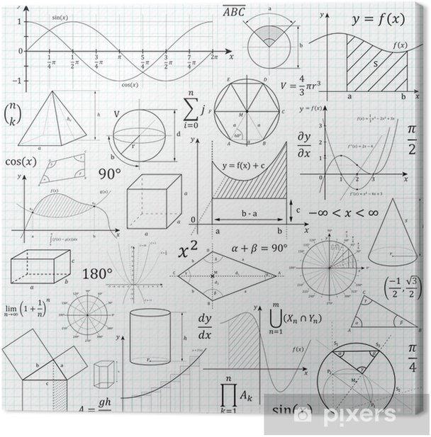 Tableau sur toile Mathématiques, Géométrie, Formelsammlung, Formeln, Symbole, Mathe - Science