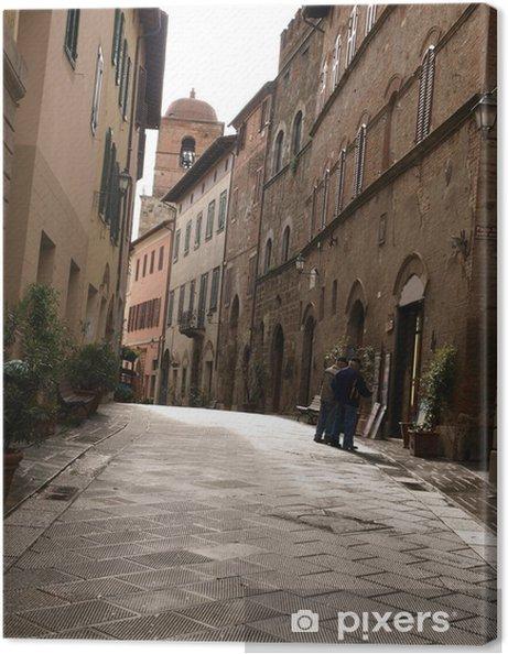 Tableau sur toile Matin dans la ville toscane. - Europe