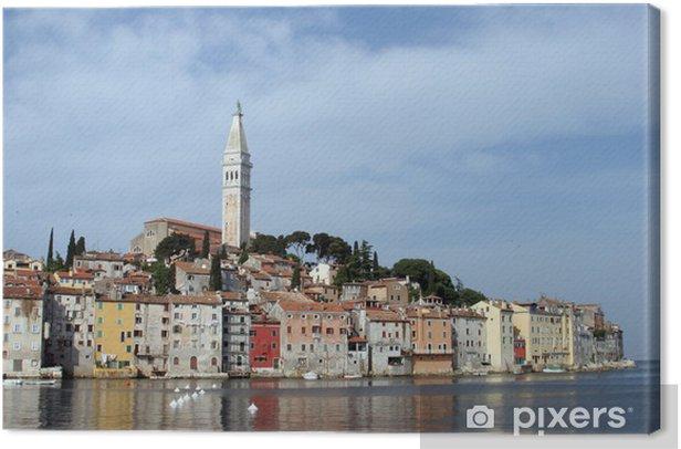 Tableau sur toile Matin dans Rovinj, Istrie, Croatie - Europe