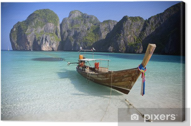 Tableau sur toile Maya Bay, Koh Phi Phi Ley, Thaïlande. - Thèmes
