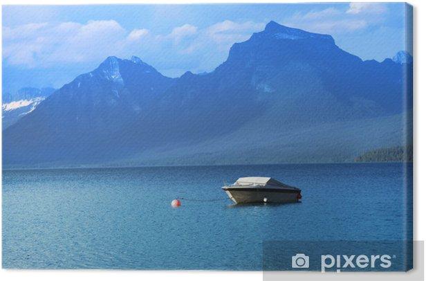 Tableau sur toile McDonald Lake dans le parc national Glacier - Eau
