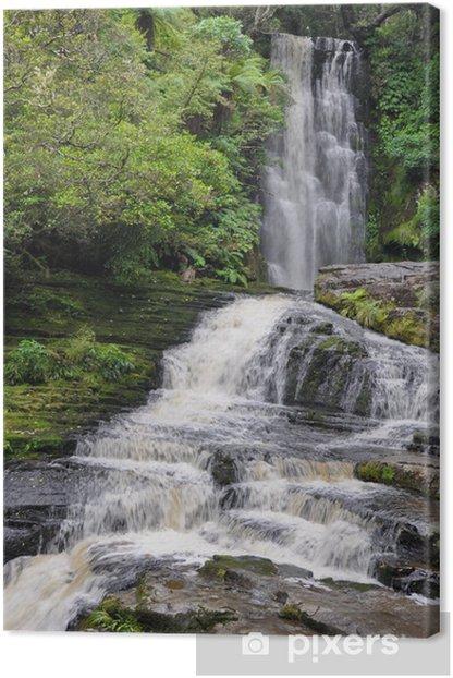 Tableau sur toile McLean Falls, The Catlins, Nouvelle-Zélande - Océanie