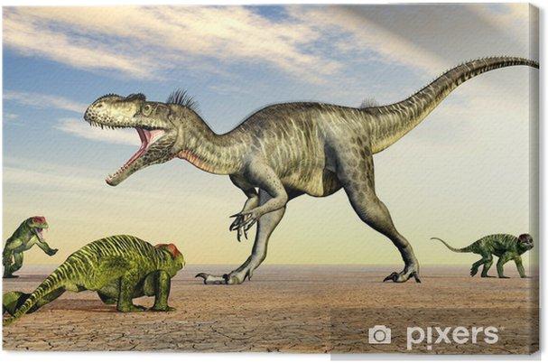 Tableau sur toile Megalosaurus und Doliosauriscus - Thèmes