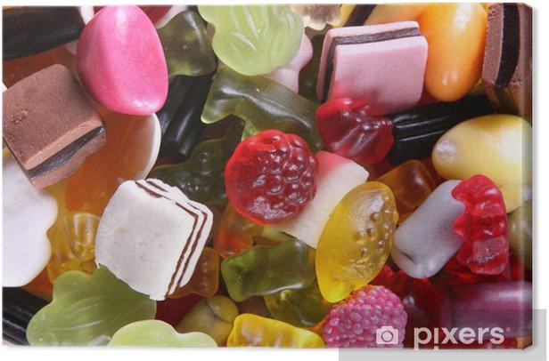 Tableau sur toile Mélange de bonbons - Thèmes