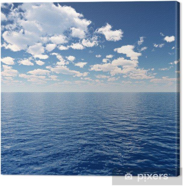 Tableau sur toile Mer ciel - Eau