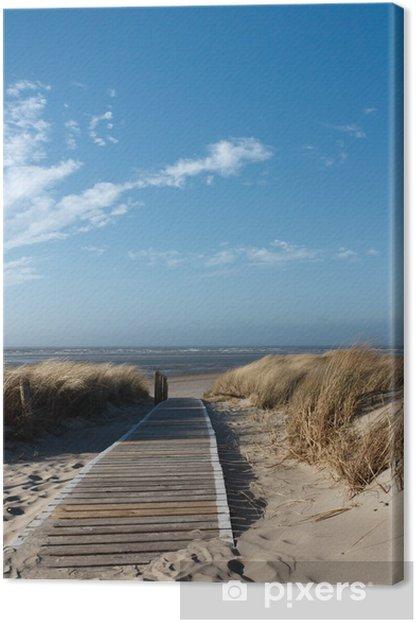 Tableau sur toile Mer du Nord plage à Langeoog -