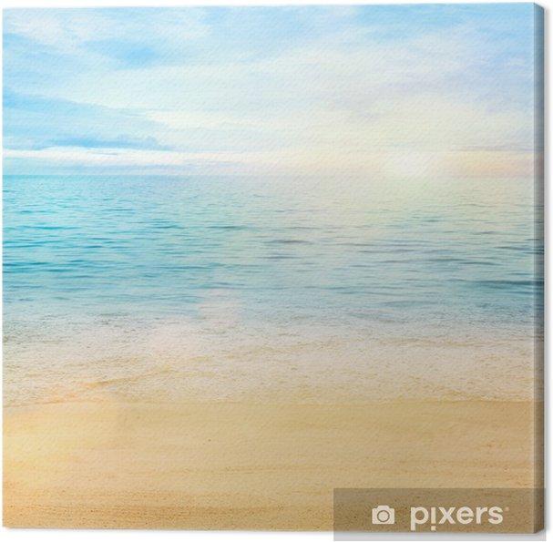 Tableau sur toile Mer et sable de fond - Styles