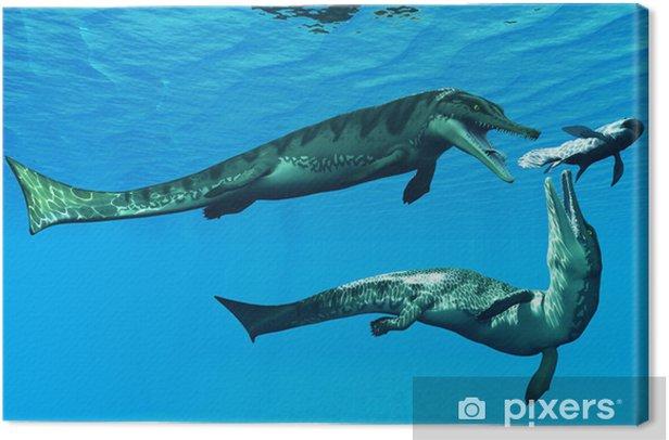 Tableau sur toile Metriorhynchus Reptiles aquatiques - Thèmes