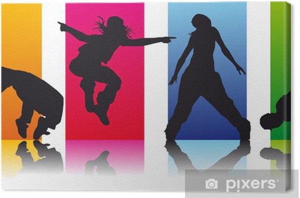 Tableau sur toile Mettre danseurs de break 2 - Sports individuels