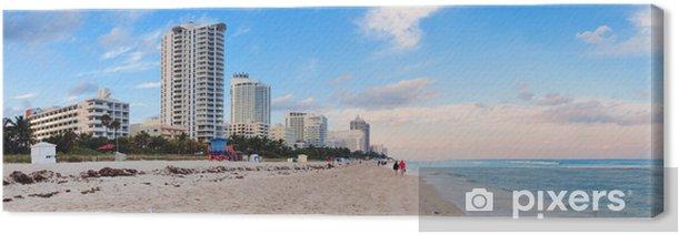 Tableau sur toile Miami Beach vue sur la mer - Amérique