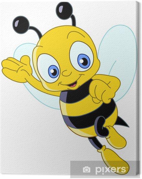 Tableau sur toile Mignon abeille - Sticker mural