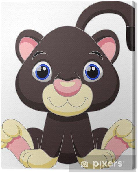Tableau Sur Toile Mignon Dessin Anime Panthere Noire Pixers