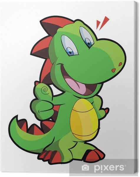 Tableau sur toile Mignon dino - Sticker mural