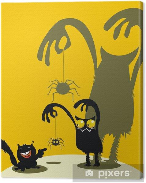 Tableau sur toile Mignon monstre, araignée et l'écureuil - Fêtes internationales