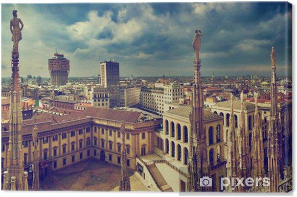 Tableau sur toile Milan, Italie. Panorama de la ville. Vue sur le Palais royal - Thèmes