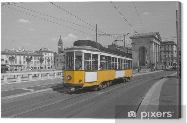 Tableau sur toile Milano con tram - Europe
