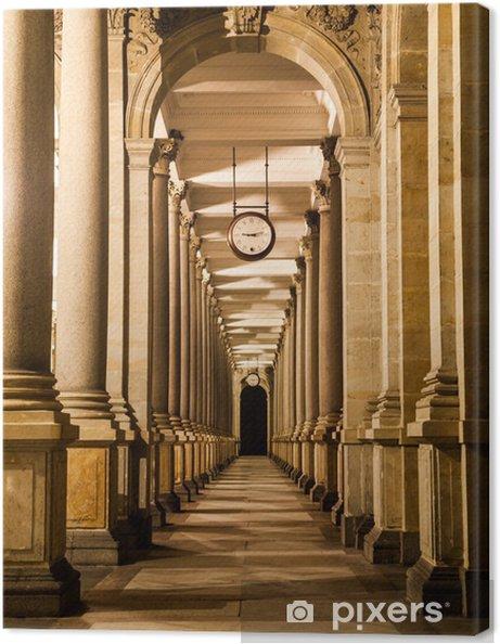 Tableau sur toile Mill colonnade de nuit - Prague