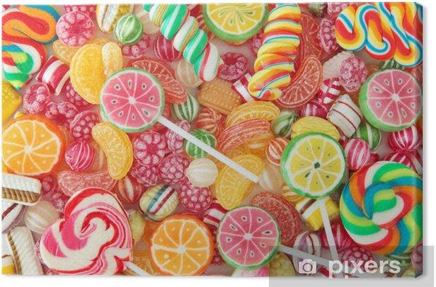 Tableau sur toile Mixte bonbon fruit coloré de près - Thèmes