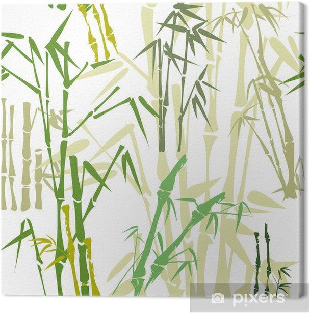 Tableau sur toile Modèle avec du bambou - Textures