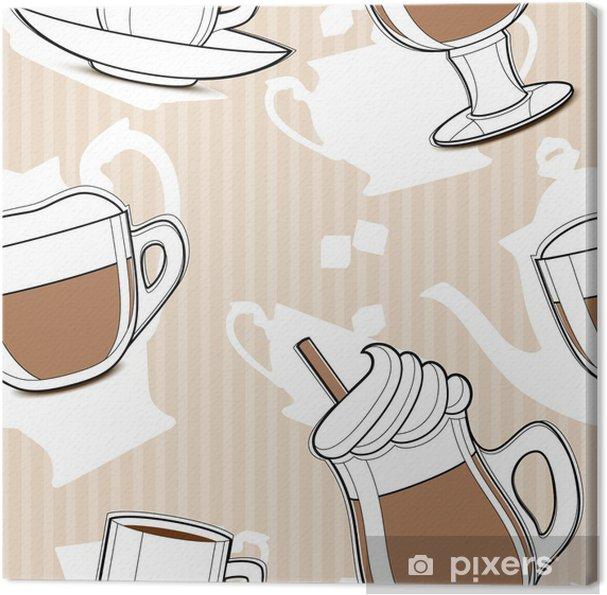 Tableau sur toile Modèle de café parfaite - Boissons chaudes