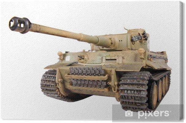 Tableau sur toile Modèle de char Tigre isolé - Thèmes