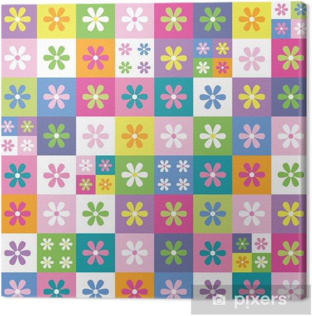 Tableau sur toile Modèle de collection de fleurs colorées - Fleurs