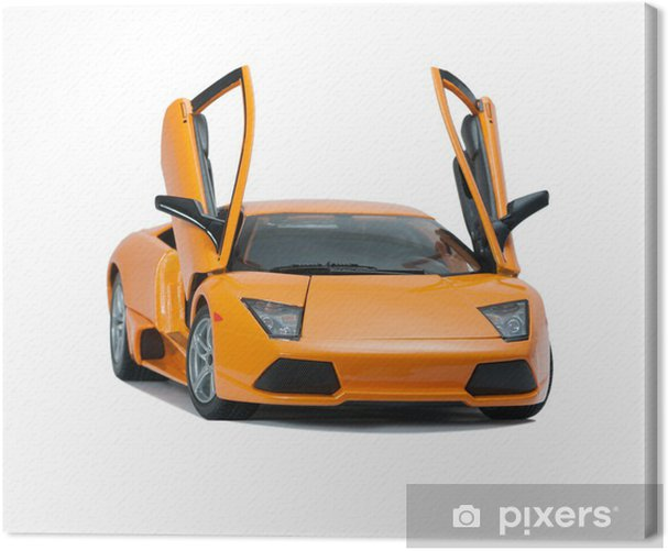 Tableau sur toile Modèle de jouet de collection Lamborghini vue de face - Thèmes