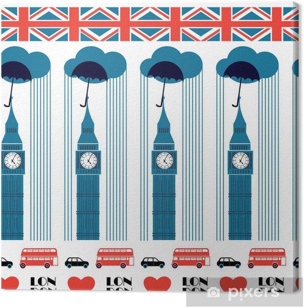Tableau sur toile Modèle de Londres - Villes européennes