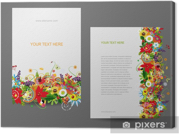 Tableau sur toile Modèle de papier, dessin floral - Concepts