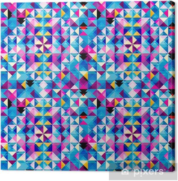 Tableau sur toile Modèle de triangle abstrait - Arrière plans