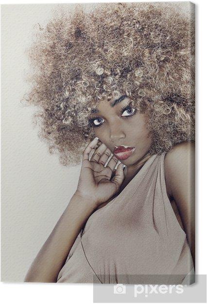 Tableau sur toile Modèle Glamour Hair - Mode