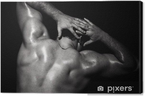 Tableau sur toile Modèle masculin musculaire - Beauté et soins du corps