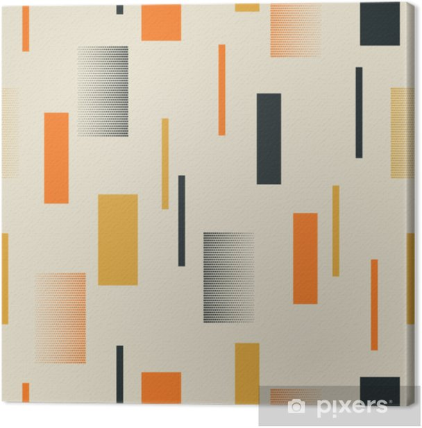 Tableau sur toile Modèle rétro sans couture avec des rayures - Ressources graphiques