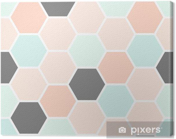 Tableau sur toile Modèle sans couture d'hexagone - Ressources graphiques