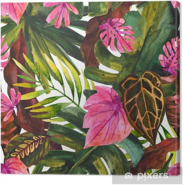 Tableau Sur Toile Modele Sans Couture De Peinture Florale Tropicale De Couleur De L Eau Pixers Nous Vivons Pour Changer