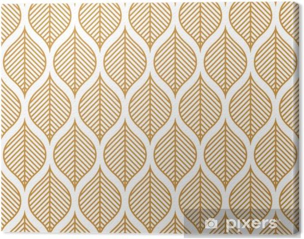 Tableau sur toile Modèle sans couture de vecteur feuille géométrique. texture de feuilles abstraites. - Ressources graphiques