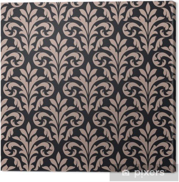Tableau sur toile Modèle sans couture vintage - Plantes et fleurs