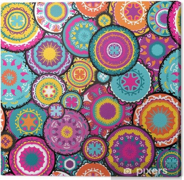 Tableau sur toile Modèle vectoriel marocain - Styles