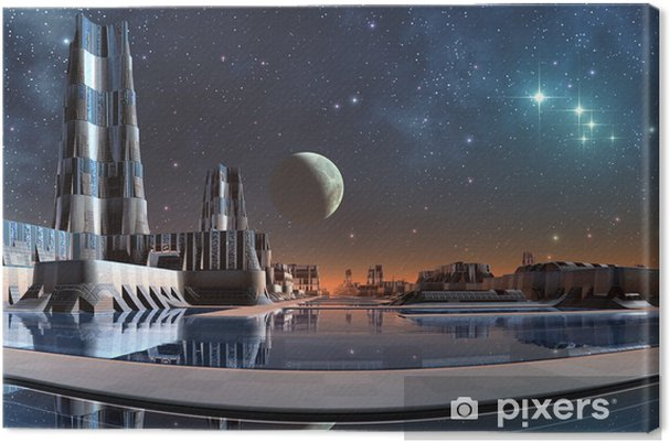 Tableau sur toile Modern City Skyline - Espace