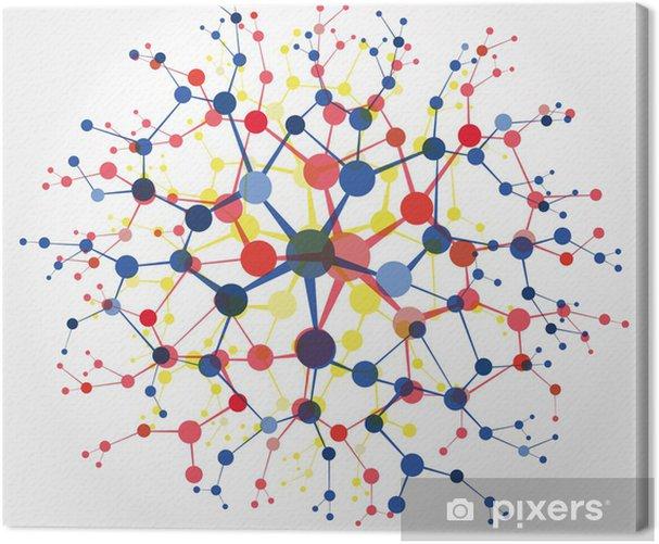 Tableau Sur Toile Molecule Pixers Nous Vivons Pour Changer